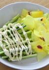 花オクラときゅうりのサラダ