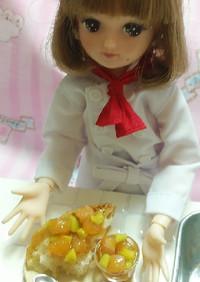 リカちゃん♡サーモンアボカドブルスケッタ