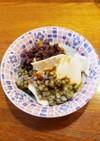 豆花の緑豆と小豆添え