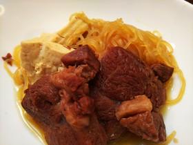 簡単美味・牛すね肉のすき焼き風
