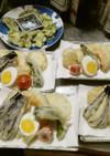 夏の野菜天ぷら盛合せ