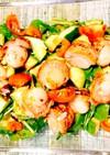 簡単☆ミニ帆立とルッコラのサラダ