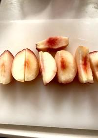 桃のキレイな剥き方