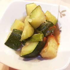 ズッキーニ(夏野菜)の煮びたし