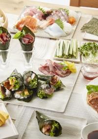みんな大好き!肉手巻き寿司!