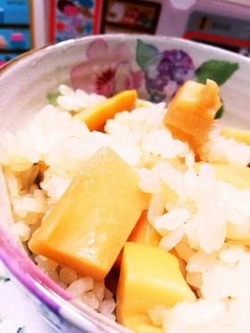 夏のタケノコご飯