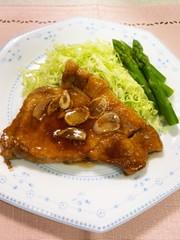 豚ロースガーリックステーキの写真