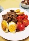 牛肉と卵のオイスターソース炒め