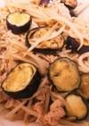 豚肉とナスともやしの味噌ポン酢炒め⭐