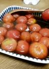 冷凍ミニトマトのポン酢漬け
