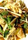 青菜とピリ辛麻婆豆腐風オリジナル!
