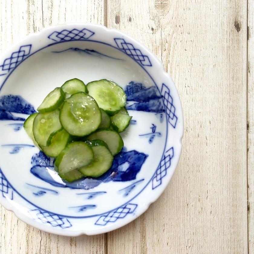 ポリ袋で1分きゅうりの浅漬け〜柚子胡椒味