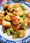 簡単 鶏団子とオクラのポン酢炒め