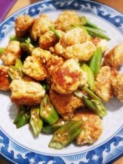 簡単 鶏団子とオクラのポン酢炒めの写真