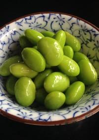 ポリ袋で1分 枝豆の浅漬け〜白だしわさび