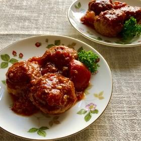 ♢生トマト煮込み☆小さなハンバーグ