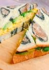 アボカドと炒り卵のサンドイッチ