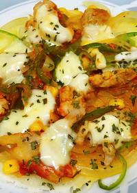 低たん白 モッツァレラチーズのピザ:腎臓