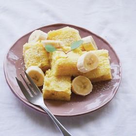 レンジ簡単 HMバナナケーキ 子供おやつ