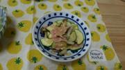 ズッキーニとベーコンのオイマヨ炒めの写真