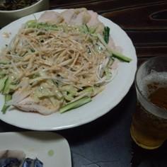 茹で鶏(ゴママヨ味噌ソース)