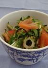 水菜ときゅうりの塩こんぶサラダ