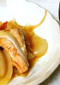 ♪鮭の炒め物&ネギと茄子味噌汁♪