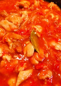簡単チキンのトマト煮カチャトラ風
