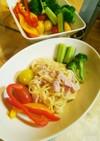 コーンスープの素でカルボナーラ