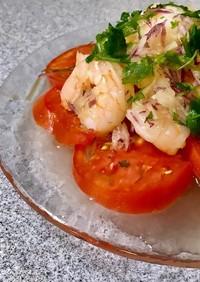 時短!トマトと海老のカルパッチョ