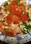 トマトジュースで洋風素麺