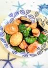 魚肉ソーセージと余り野菜の炒めもの