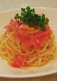 トマトとチェダーチーズパスタ