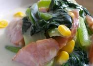 ◆小松菜とウインナーのクリーム煮◆