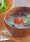 妊娠、授乳に!プチトマトと夏野菜おみそ汁