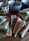 ゆずこしょうマヨのサンドイッチ