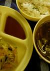 簡単エビと根菜のかき揚げ