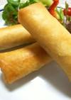夏野菜カレーの春巻き~時々チーズin~