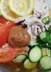 夏の熱中症対策。豚しゃぶ&野菜そうめん