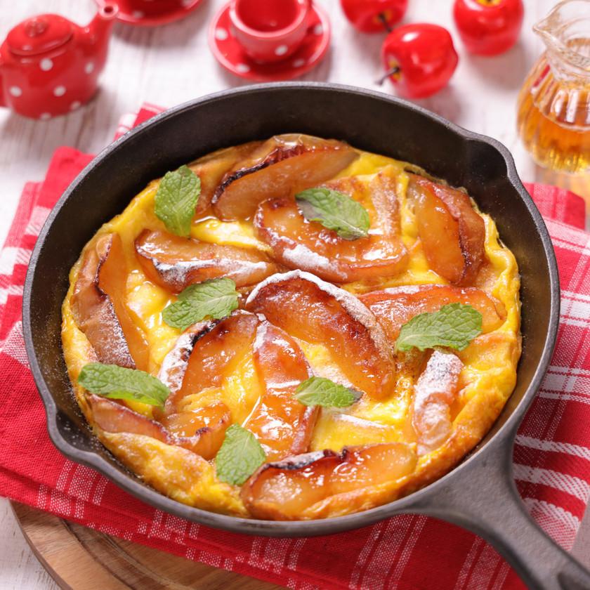 食パンでデザート♪りんごのパンプティング