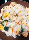 鮭と大葉の簡単!絶品炒飯♡