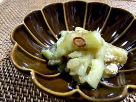 レンジ蒸しなすの中華風マリネ
