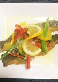 揚げ白身魚と野菜のマリネ