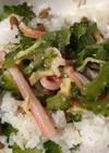 納豆とゴーヤ味噌田楽のご飯