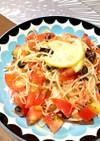 海老油香るアンチョビとトマトの冷製パスタ