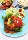 夏季限定〜たっぷりトマトのハンバーグ☆