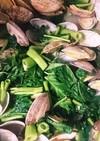空心菜とアサリの酒蒸し