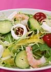 シーフードと夏野菜のサラダ