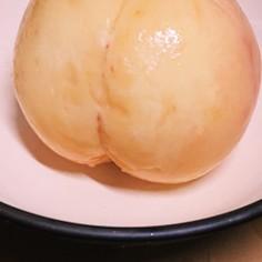 湯剥き★ツルッと生桃(๑´>᎑<)~♡