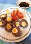 ウズラ卵のスコッチエッグ